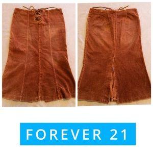 Forever 21 Corduroy Midi Skirt